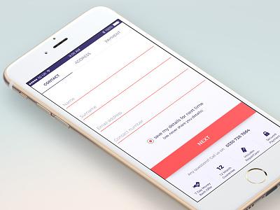 Checkout Screen contact info ecommerce checkout mobile