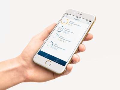 Air Monitor and Control IoT App ui design ux air monitor air purification ios mobile connected products iot