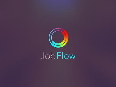 Job Flow Logo recruitment work jobs app logo logo design