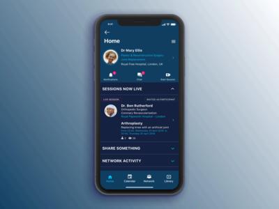 Video platform for medical professionals