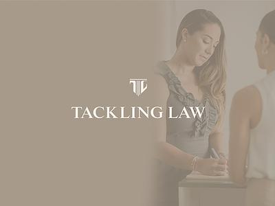 Final logo for Tackling Law branding logo brand identity lawyer logo lawyer law firm logo law firm brand design