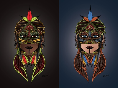 Drawing digitalized and colorized on Photoshop photoshop on colorized and digitalized drawing