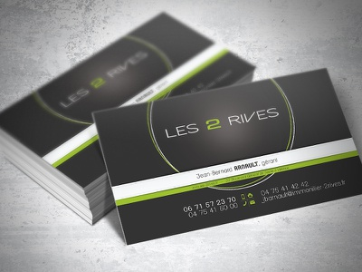 """Business cards """"Les 2 Rives"""" cards business"""