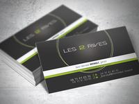 "Business cards ""Les 2 Rives"""