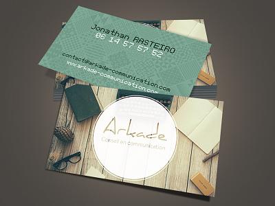 Cartes Visite Arkade Communication communication arkade visite cartes