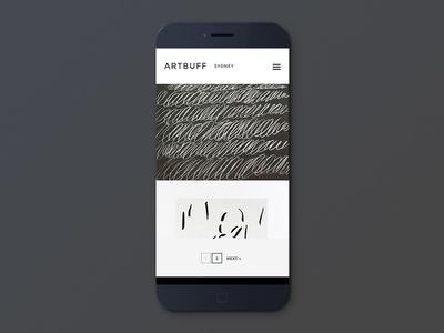 Artbuff ios ui ux app responsive e-commerce minimal flatdesign mobile android