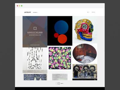 Artbuff ui ux app art desktop responsive e-commerce minimal flatdesign
