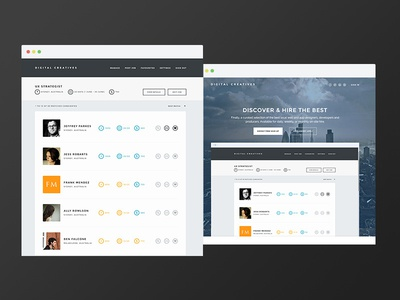 digitalcreatives.com web ui ux flat directory platform saas booking e-commerce responsive