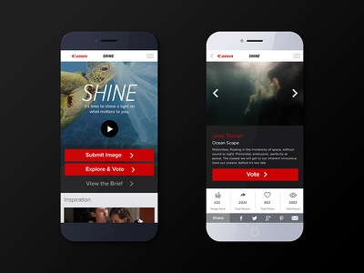 Canon Shine - Mobile ios app ux ui canon competition flat design android