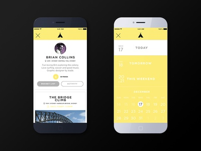 Tipi for iOS ios app mobile ux ui flat design local discovery travel startup minimal