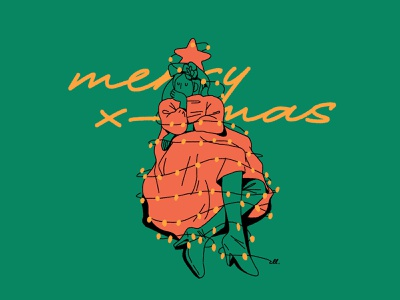 Merry christmas at home illustration christmas card home christmas merry christmas