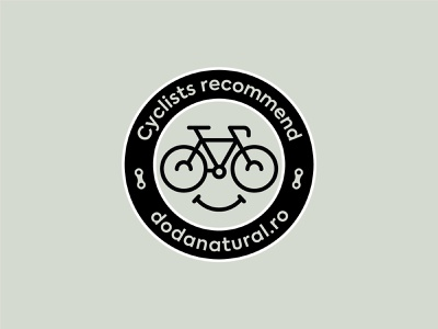 Bike friendly sticker label round sticker cyclist bike chain glasses smiley smile cute character face icon logo symbol bicycle cycle bike