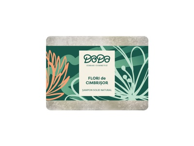Doda packaging label soap flower herbalist natural plant beauty packaging