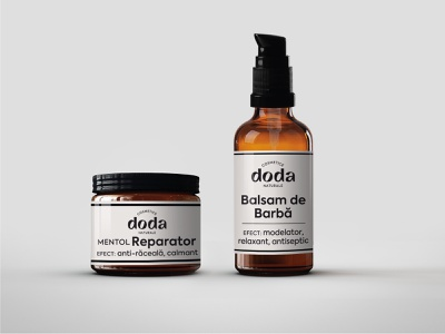 Doda Natural Cosmetics - packaging label packaging plant natural herbalist care products beauty products skincare herbal cosmetics
