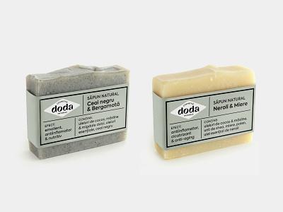 Doda Natural Cosmetics - packaging natural plant handmade artisan design packaging label soap beauty product herbal cosmetics