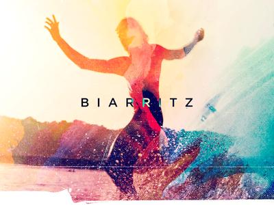 Surfing in Biarritz microdose acid watercolor surfing surf biarritz