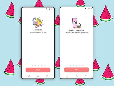 Beauty Store Mobile App UI Design design app ui ui design ux uiux uidesign figma branding adobe xd