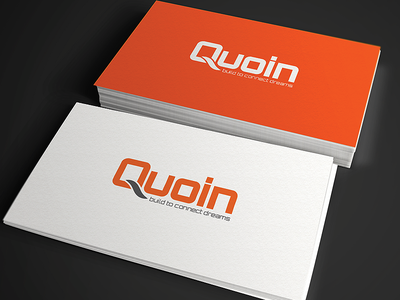 Quoin Logo logo logo design orange app logo it developer connection