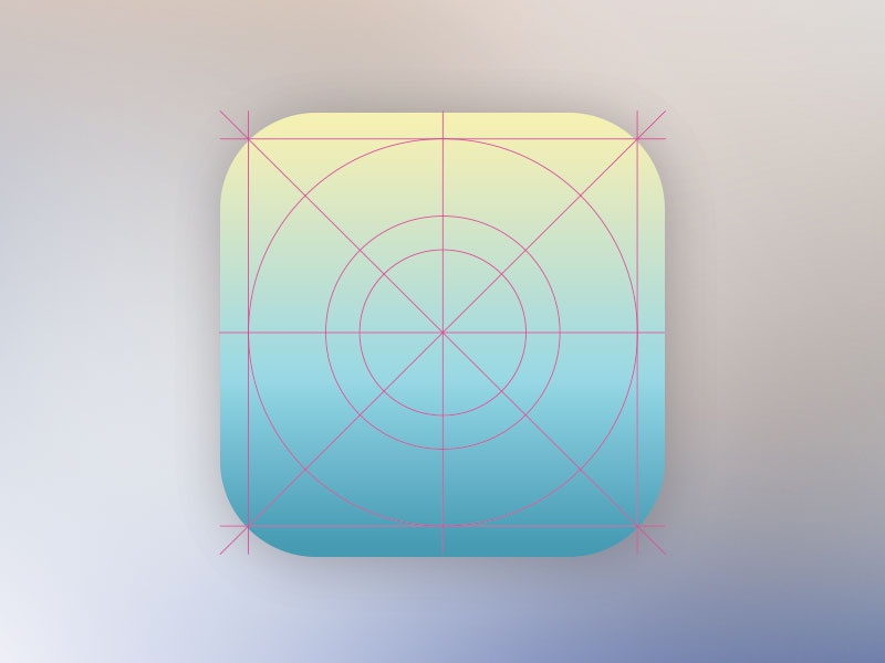New Ios7 Look Icon Design Grid Template