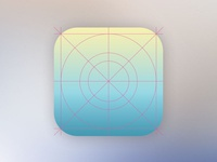 New Ios7 Look Icon Design Grid Template - PSD attached