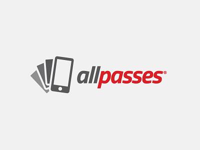 allpasses app logo logo logo design red grey passbook passes pass ticket vouchers coupons