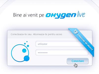 Oxygenlive.ro login webdesign ui menu search login ux animated calculator expose user experience
