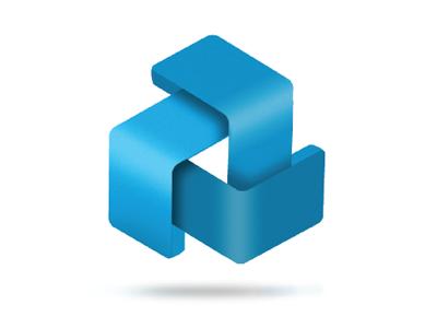 TMTC Logo logo design power identity blue combined arrows
