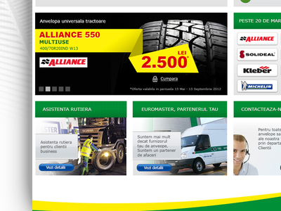 Euromaster Pitch Proposal tire store tire webdesign web design website site green yellow euromaster