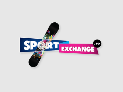 SportExchange sport logo identity logo design pink blue