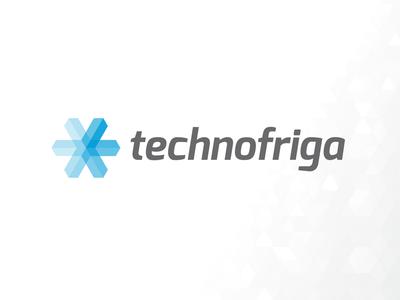 Technofriga logo logo design logo design identity ice cold