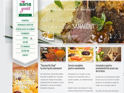 Sanagout Events Website sanagout web design website webdesign design food gourmet events green vertical menu ui ux