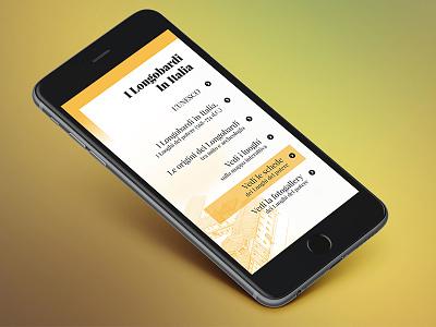 I Longobardi in Italia webdesign project management app