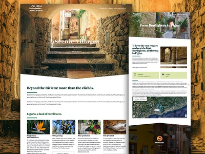 Altrariviera - update english versions website parallax liguria