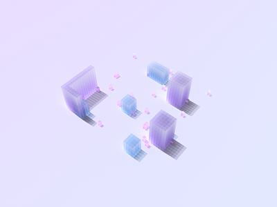 Cube design ui color cube
