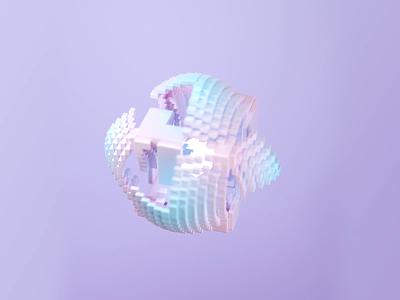 Cube animation illustration animation cube