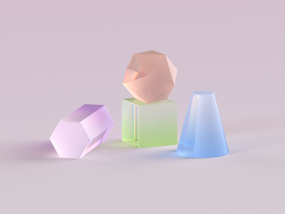Glass material gradient