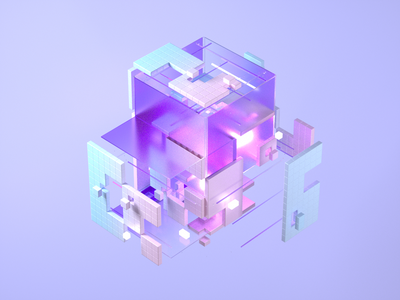 Cube 3d art illustration design