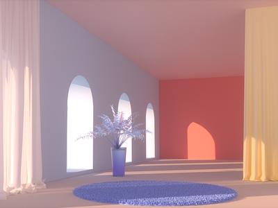 Scene design animation 3d art
