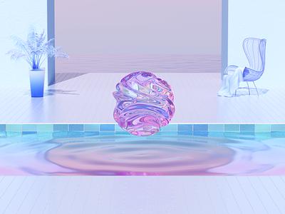 Water ripple 3d art design animation