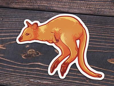 Wallaby Sticker sticker illustration wallaby australia wacom outback photoshop