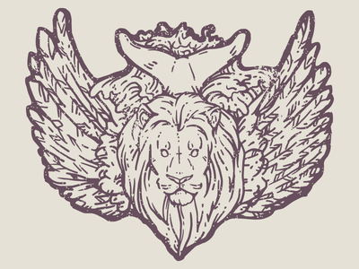 the Lion the Eagle and the Whale whale eagle lion hand drawn vector line illustrator adobe animal music illustration album