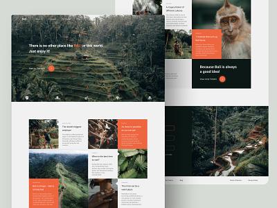 Bali Landing Page Design Concept website ui travel landing desktop design concept design bali