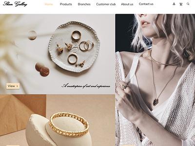 Sheen jewelry web design website ux ui design online shop ecommerce