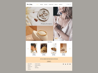 HomePage designed for online jewlery store