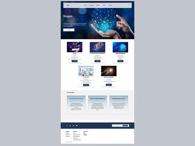 SAAS Website UI design web design website saas website
