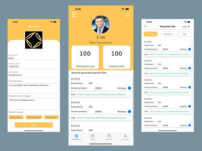 Invoicing App ios mobile app prototype ux ui design ui