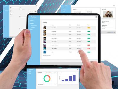 ProMotion admin panel ipad iphone campaign marketing mobile app prototype ux ui design