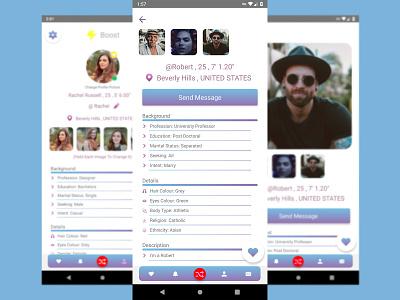 Raver Dating Application dating app mobile app prototype ux ui design