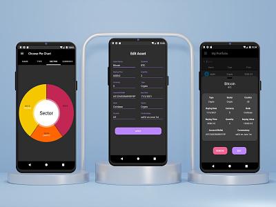 Stock portfolio app design stock app android app mobile app prototype ux ui design