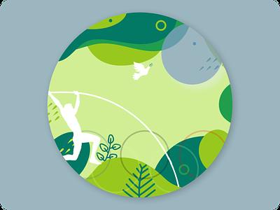 Pole vault badge, Tokyo summer Olympic illustration ui android app online shop design web design prototype mobile app website branding ux ui design logo
